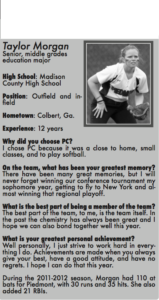 Leading Lions Piedmont Softball