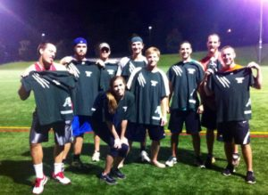 Students win an intramural game.